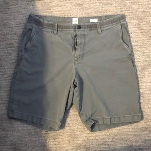Grey flat front shorts. Size 36. GAP